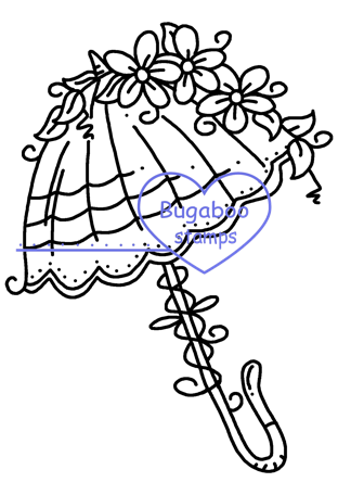 Digi Singles,Fancy Umbrellas - Umbrella 1,Bugaboo Stamps,