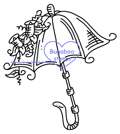 Digi Singles,Fancy Umbrellas - Umbrella 3,Bugaboo Stamps,