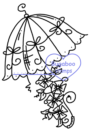 Digi Singles,Fancy Umbrellas - Umbrella 4,Bugaboo Stamps,