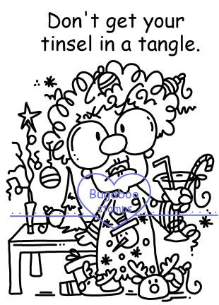 Digi Singles,Gertrude - tinsel in a tangle,Bugaboo Stamps,