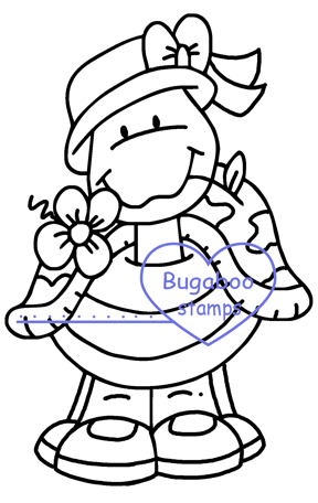 Digi stamps,Girl Turtle Digi Stamp,Bugaboo Stamps,