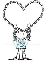 Digi stamps,Girl Big Heart,Bugaboo Stamps,