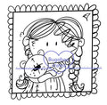 Digi Singles,Girl and Teddy Picture,Bugaboo Stamps,