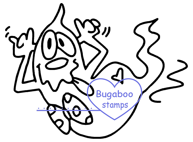 Digi stamps,Goofy Ghost - funny,Bugaboo Stamps,