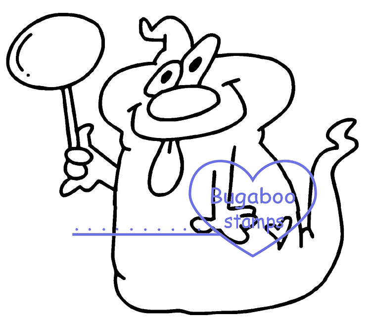 Digi stamps,Goofy Ghost - sucker,Bugaboo Stamps,
