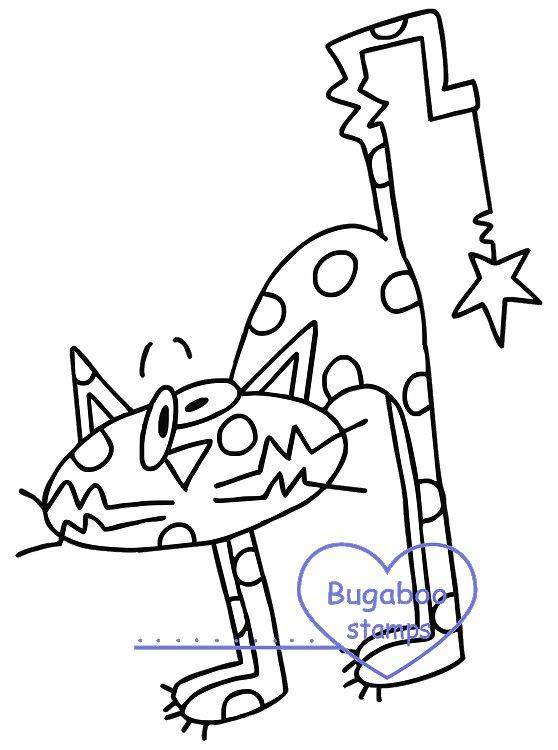 Digi stamps,Goofy Cat Polka Dots,Bugaboo Stamps,