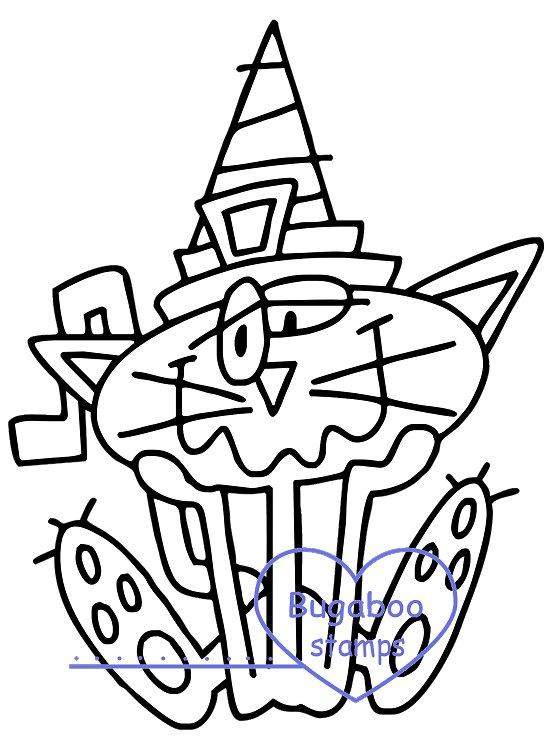 Digi stamps,Goofy Cat Witch 2,Bugaboo Stamps,