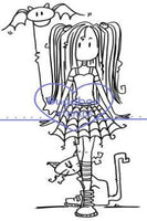 Digi stamps,clip art,Goth Girl,Bugaboo Stamps,