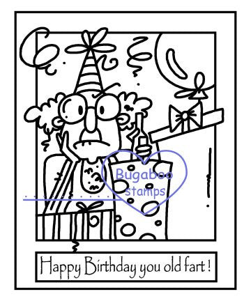 Digi Singles,Make it Snappy -Gus Birthday old fart,Bugaboo Stamps,