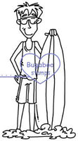 Surfing Summer Guy Digi Stamp  Images, Digi stamps, clip art, coloring pages and illustrations from Bugaboo Stamps