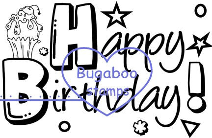 Word art/ Sentiments,Digi Singles,Happy birthday sentiment,Bugaboo Stamps,