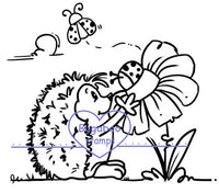 Digi Singles,Hedgehog flower,Bugaboo Stamps,