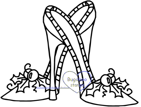 Digi stamps,Christmas Heels,Bugaboo Stamps,