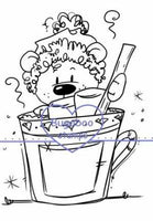 Digi stamps,Hot Cocoa Bear,Bugaboo Stamps,