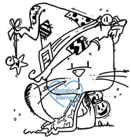 Digi stamps,halloween kitty,Bugaboo Stamps,