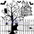 Digi stamps,Halloween Silhouette Scene,Bugaboo Stamps,