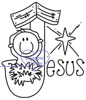 Word art/ Sentiments,Digi Singles,Christmas words - Jesus,Bugaboo Stamps,