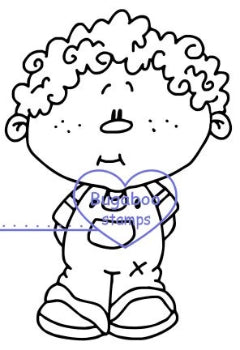 Digi Singles,Kidlet - Curly hair Boy,Bugaboo Stamps,