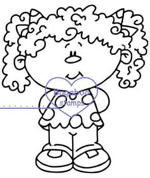 Pig tail girl image, digi stamps, clip art, illustrations from Bugaboo stamps