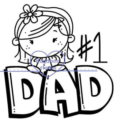 digi stamps,clip art,illustrations,KIDZ - dad girl,Bugaboo Stamps,