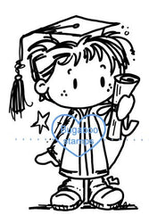 A cute digi stamp for any male graduate