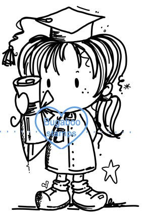 A cute digi stamp for any female graduate