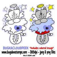digi stamps illustrations and clip art Kitty angels image set Bugaboo Stamps