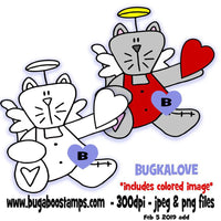 digi stamps and clip art Kitty angels heart image set Bugaboo Stamps