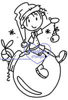 Digi Singles,Knobby Knees Christmas - ornament,Bugaboo Stamps,
