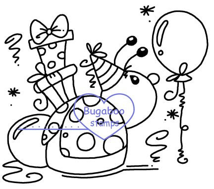 Digi stamps,clip art,illustrations,Ladybug Birthday,Bugaboo Stamps,