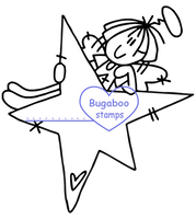 Digi Singles,Raggedy Angel - Lay on Star,Bugaboo Stamps,