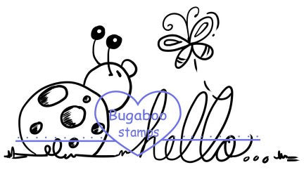 Word art/ Sentiments,Digi Singles,ladybug hello,Bugaboo Stamps,