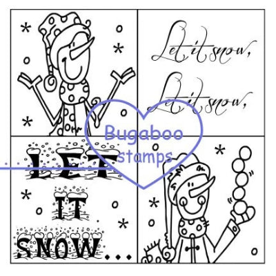 Word art/ Sentiments,Digi Singles,4 square - Let it Snow,Bugaboo Stamps,