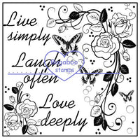 Digi Singles,Word art/ Sentiments,Live laugh love rose block,Bugaboo Stamps,