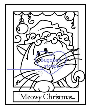 Digi Singles,Make it Snappy - Meowy Christmas,Bugaboo Stamps,