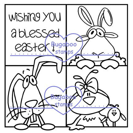 Digi Singles,Make it snappy - have a blessed easter,Bugaboo Stamps,