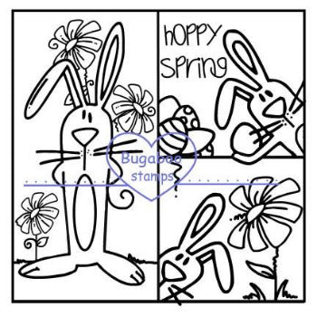 Digi Singles, Make it snappy - rabbit trio,Bugaboo Stamps,