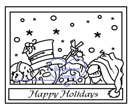 Digi Singles,Make it Snappy - SF Happy Holidays,Bugaboo Stamps,