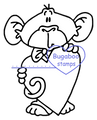 Digi Singles,Monkey Love - big heart,Bugaboo Stamps,