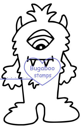 Digi Singles,Monster 1,Bugaboo Stamps,
