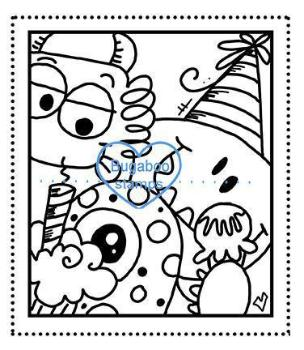 Digi stamps,monster birthday selfie snapshot,Bugaboo Stamps,