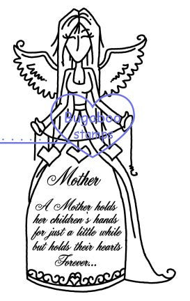Digi Singles,Words from an Angel - Mother,Bugaboo Stamps,