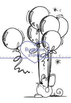 Digi Singles,Mouse - balloons,Bugaboo Stamps,