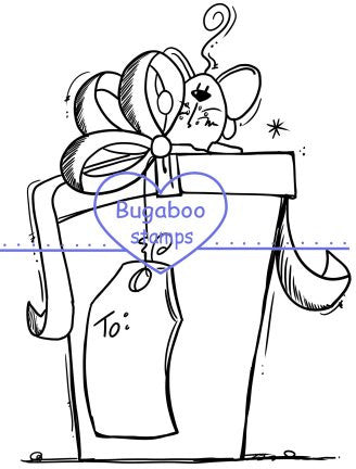 Mouse - present Digi stamps, Images, clip art, coloring pages and illustrations from Bugaboo Stamps