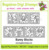 Digi Sets,Digi Singles,Mini Set  - Bunny Blocks,Bugaboo Stamps,