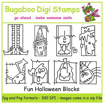 Digi stamps,Halloween blocks,Bugaboo Stamps,