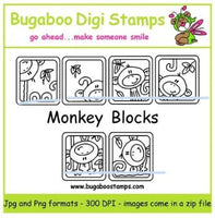 Digi Sets,Mini Set  - Monkey Blocks,Bugaboo Stamps,