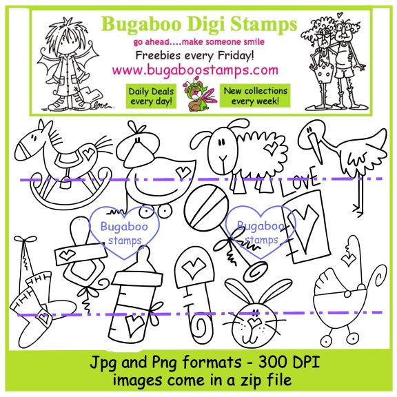 Digi Singles,Digi Sets,Mini Set   Baby Bits,Bugaboo Stamps,