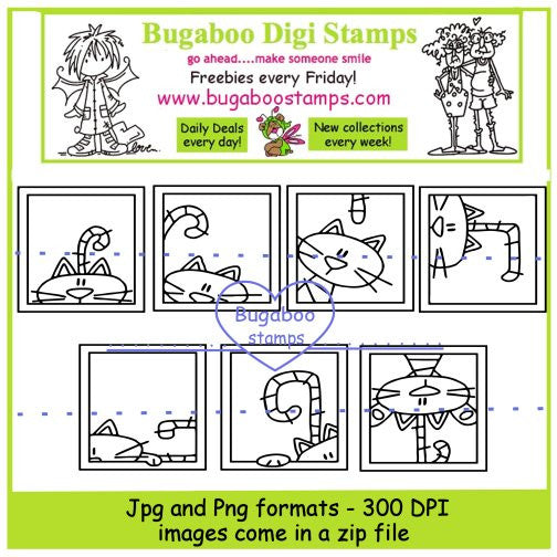 Digi Singles,Digi Sets,Mini Set - cat blocks,Bugaboo Stamps,