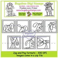 Digi Sets,Digi Singles,Mini Set - dog blocks,Bugaboo Stamps,